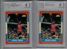 LOT OF (2) MICHAEL JORDAN 1996-97 FLEER DECADE OF EXCELLENCE CARD LOT BGS 9 MINT