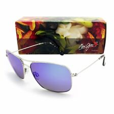 NEW Maui Jim WIKI WIKI Silver & Blue Hawaii Polarized B246-17