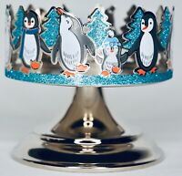 Bath & Body Works Penguins and Glittery Trees 3 Wick Candle Sleeve Pedestal