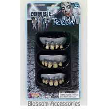 A375 Zombie Rotted Teeth 3 packs Scary Horror Halloween Costume Accessory