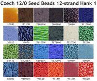 Czech 12/0 Rocaille Glass Seed Beads 12-strand Hank 1
