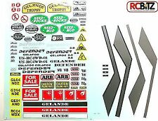 Gelande 2 G II Land Rover D90 Defender Body Sticker Decal Set Stripes dash