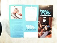 1970s Hear Muffs Softest Sound FUNKY Headphones  6 Page Fold Open Brochure