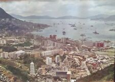 PAN AM AIRLINES HONG KONG VICTORIA HARBOR Vintage Travel poster 1969 NM 35x40