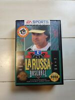 CIB Sega Genesis Tony La Russa Baseball Game Box & Manual MLB Tested Working