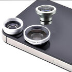 Universal Smart Phone 3-in-1 Fisheye+Wide Angle+Macro Clip-On Camera Lens Kit