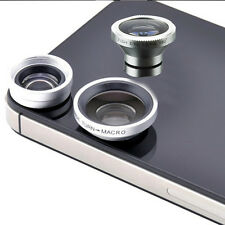 Universal Clip On Fish Eye Wide Angle Macro Camera Lens For iPhone 5S 5C 5SE 1pc