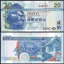HONG KONG 20 Dollars 2009 UNC P 207 f