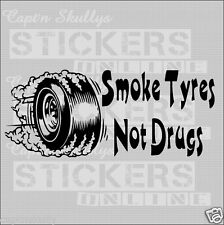 SMOKE TYRES DECAL 215x90mm Capt'n Skullys Stickers Online MPN 2033 M/PURPOSE