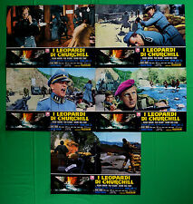 H26 LOTTO FOTOBUSTE I LEOPARDI DI CHURCHILL RICHARD HARRISON KLAUS KINSKI