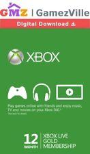 12 Month Xbox Live Gold Membership Card Microsoft Xbox ONE X 360 Key Code