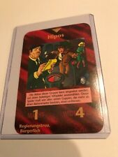 HIPPOS : Illuminati German INWO CCG 1996 card, Rare UNIQUE Group, Parking cops