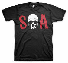 Officially Licensed Sons of Anarchy - S-O-A BIG & TALL 3XL,4XL,5XL Men's T-Shirt