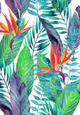 TROPICAL PALM LEAVES WALL ART  * LARGE A3 SiZE QUALITY CANVAS PRINT