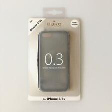 Carcasa Trasera Ultra Delgada 0.3 Funda Protección para iPhone Apple 5 5s Negro
