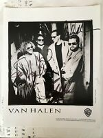 Van Halen VH Van Hagar Genuine Real Autographed Promo Photo Balance 1995