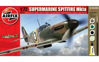 Airfix A68206M Supermarine Spitfire MkIa 1:72 Military Aircraft Starter Gift Kit