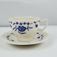 Vintage Syracuse China NANTUCKET Cup & Saucer Set 6973862  Blue Floral