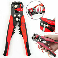 NEW Automatic Adjustable Wire Cable Crimper Crimping Cutter Tool Stripper(RED)