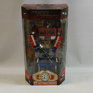 "2003 Hasbro Transformers 20th Anniversary Optimus Prime 12"" Figure 80500 NIB"