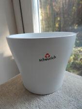 """Scheurich White Plant Pot German Ceramic Indoor Plant Pot Holder 5"""" x 6"""""""