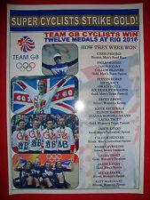 Team GB RIO 2016 CICLISMO SQUADRA medaglie olimpiche-Stampa souvenir