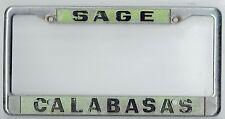 Calabasas California Sage's Datsun Mitsubishi Vintage Dealer License Plate Frame