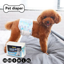 10Pcs Disposable Pet Diapers Female Dogs Super Absorbent Soft Pee Diapers Liners