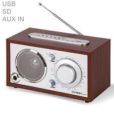 Retro Radio AUX-IN für Handy, USB, SD, Nostalgieradio, Küchenradio Holz Gehäuse