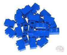 LEGO - 3-Buck Bag - 20-pc 1x2 Brick - Blue - New - (Tile, Plate)