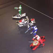 Power Rangers Lightspeed Rescue Titanium trans-armor + Saucer cycle + 3 Rangers
