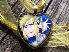 Minato Namikaze Naruto Uzumaki Charm Pendant Glass Necklace Cosplay halloween