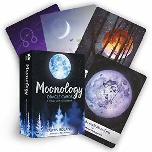 Moonology Oracle Cards: A 44-Card Deck and Guidebook by Boland, Yasmin Book The