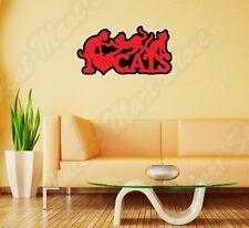 "I Love Cats Crazy Cat Lady Cat Funny Wall Sticker Room Interior Decor 25""X18"""