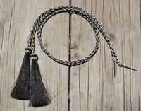 Natural Braided Horsehair Stampede String Tassels Cotter Pin - Assorted Colors