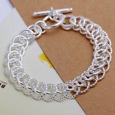 New hot sale lady silver charm trend women simple chain Bracelet Jewelry H22