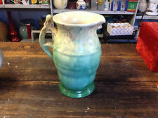 BRT Depression Antique Beswick England Pottery Mottled Green Handled Pitcher 6""