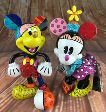 Disney Collection Minnie & Mickey Mouse Statue Figure by Romero Britto Pop Art