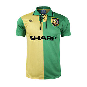 1992 1994 Manchester United Away Yellow Football soccer Jersey shirt