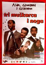 TRE UOMINI E UNA GAMBA 1997  ALDO GIOVANNI GIACOMO  UNIQUE SERBIAN MOVIE POSTER