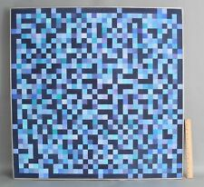 1970s Large Orig FREDERIC M FAILLACE Abstract Geometric Op-Art Acrylic Painting