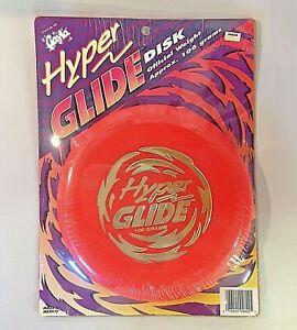 Vintage 1990's NOS Gayla Hyper Glide Disk 106 Grams Neon Red Disc Golf Ultimate