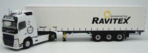 ELI116656 - Camion 4x2 VOLVO FH4 Globetrotter avec semi bachée Tautliner aux cou