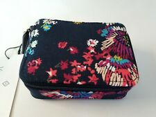 Vera Bradley Travel Pill Case in Midnight Wildflowers Navy Pinks Floral New