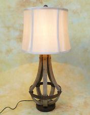 Tischlampe Lampe Stehleuchte Shabby in Metall gefasstes gebogenes Holz PQ023-b