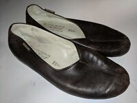 Mephisto Womens Gazelle Brown Soft Leather Slip On Ballet Flats Shoes size 7