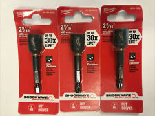 3 Milwaukee 49 66 4536 716 X 2 916 Shockwave Magnetic Nut Driver 3x