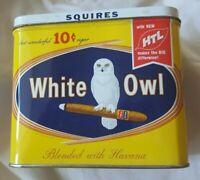 Vintage White Owl Squires Cigar Tin