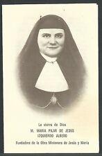 Estampa antigua la Sierva Maria Pilar andachtsbild santino holy card santini