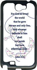 Multicolor Polka Dot Anchor with Verse John 3:16 Samsung Galaxy Note 2 Hard Case